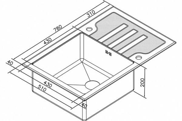 МОЙКА ZORG GL-7851 WHITE INOX BRONZE бронза, квадратная